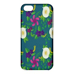 Caterpillar Flower Floral Leaf Rose White Purple Green Yellow Animals Apple Iphone 5c Hardshell Case by Alisyart