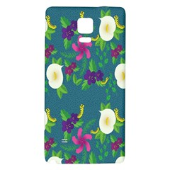 Caterpillar Flower Floral Leaf Rose White Purple Green Yellow Animals Galaxy Note 4 Back Case by Alisyart