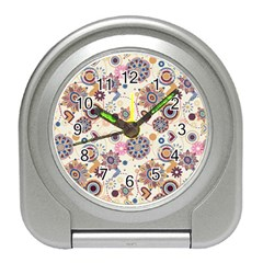 Flower Arrangements Season Floral Purple Love Heart Travel Alarm Clocks by Alisyart
