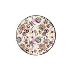 Flower Arrangements Season Floral Purple Love Heart Hat Clip Ball Marker (10 Pack) by Alisyart