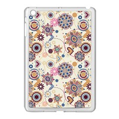 Flower Arrangements Season Floral Purple Love Heart Apple Ipad Mini Case (white) by Alisyart