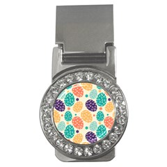 Egg Flower Floral Circle Orange Purple Blue Money Clips (cz)  by Alisyart