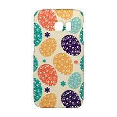 Egg Flower Floral Circle Orange Purple Blue Galaxy S6 Edge by Alisyart