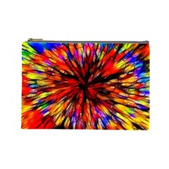 Color Batik Explosion Colorful Cosmetic Bag (large)  by Amaryn4rt