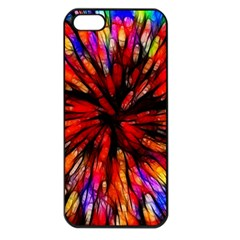 Color Batik Explosion Colorful Apple Iphone 5 Seamless Case (black) by Amaryn4rt