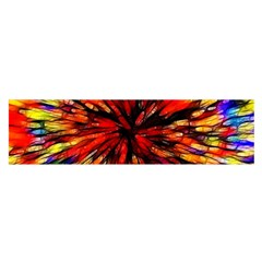Color Batik Explosion Colorful Satin Scarf (oblong) by Amaryn4rt