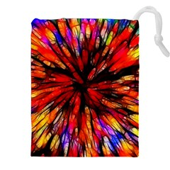 Color Batik Explosion Colorful Drawstring Pouches (xxl) by Amaryn4rt