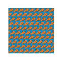 Fish Sea Beach Swim Orange Blue Small Satin Scarf (square) by Alisyart