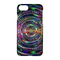 Wave Line Colorful Brush Particles Apple Iphone 7 Hardshell Case by Amaryn4rt