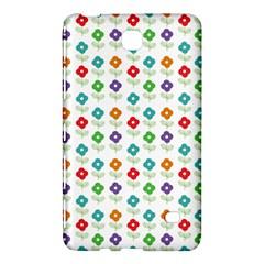 Flower Floral Sunflower Pink Blur Purple Yellow Green Samsung Galaxy Tab 4 (7 ) Hardshell Case  by Alisyart