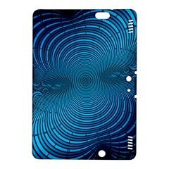 Abstract Fractal Blue Background Kindle Fire Hdx 8 9  Hardshell Case