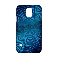 Abstract Fractal Blue Background Samsung Galaxy S5 Hardshell Case  by Amaryn4rt