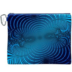 Abstract Fractal Blue Background Canvas Cosmetic Bag (xxxl) by Amaryn4rt