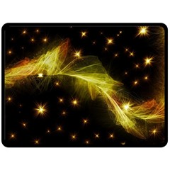 Particles Vibration Line Wave Fleece Blanket (large)  by Amaryn4rt