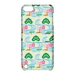 Flower Arrangements Season Sunflower Green Blue Pink Red Waves Apple Ipod Touch 5 Hardshell Case With Stand by Alisyart
