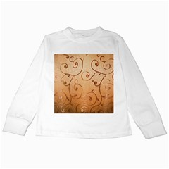 Texture Material Textile Gold Kids Long Sleeve T Shirts by Amaryn4rt