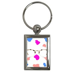 Glasses Blue Pink Brown Key Chains (rectangle)  by Alisyart