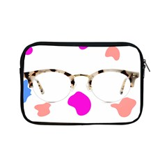 Glasses Blue Pink Brown Apple Ipad Mini Zipper Cases by Alisyart