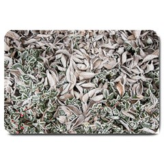 Ice Leaves Frozen Nature Large Doormat  by Amaryn4rt