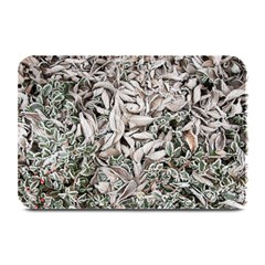 Ice Leaves Frozen Nature Plate Mats by Amaryn4rt
