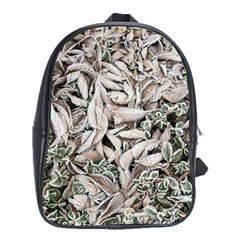 Ice Leaves Frozen Nature School Bags (xl)  by Amaryn4rt