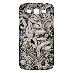 Ice Leaves Frozen Nature Samsung Galaxy Mega 5 8 I9152 Hardshell Case  by Amaryn4rt
