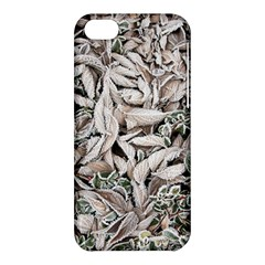 Ice Leaves Frozen Nature Apple Iphone 5c Hardshell Case by Amaryn4rt