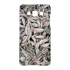 Ice Leaves Frozen Nature Samsung Galaxy A5 Hardshell Case  by Amaryn4rt