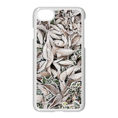 Ice Leaves Frozen Nature Apple Iphone 7 Seamless Case (white) by Amaryn4rt