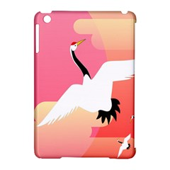 Goose Swan Pink Orange White Animals Fly Apple Ipad Mini Hardshell Case (compatible With Smart Cover) by Alisyart