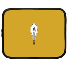 Idea Lamp White Orange Netbook Case (xl)  by Alisyart