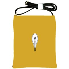 Idea Lamp White Orange Shoulder Sling Bags by Alisyart