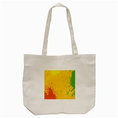 Paint Stains Spot Yellow Orange Green Tote Bag (cream) by Alisyart