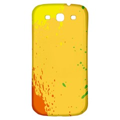 Paint Stains Spot Yellow Orange Green Samsung Galaxy S3 S Iii Classic Hardshell Back Case by Alisyart