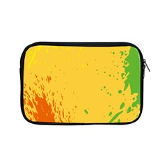 Paint Stains Spot Yellow Orange Green Apple Ipad Mini Zipper Cases by Alisyart