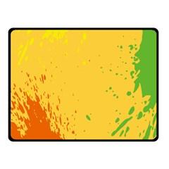 Paint Stains Spot Yellow Orange Green Double Sided Fleece Blanket (small)  by Alisyart