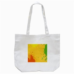 Paint Stains Spot Yellow Orange Green Tote Bag (white)