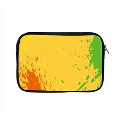 Paint Stains Spot Yellow Orange Green Apple Macbook Pro 15  Zipper Case by Alisyart