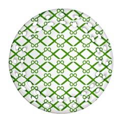 Scissor Green Ornament (round Filigree) by Alisyart