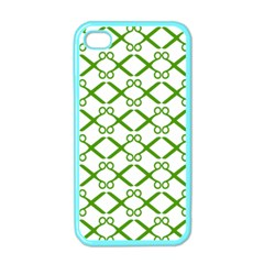 Scissor Green Apple Iphone 4 Case (color)