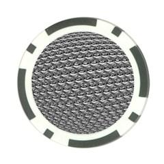 Mandelbuld 3d Metalic Poker Chip Card Guard by Amaryn4rt
