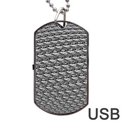 Mandelbuld 3d Metalic Dog Tag Usb Flash (two Sides) by Amaryn4rt