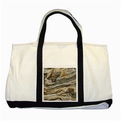 Rock Texture Background Stone Two Tone Tote Bag by Amaryn4rt