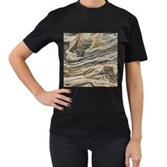 Rock Texture Background Stone Women s T Shirt (black) by Amaryn4rt