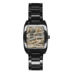 Rock Texture Background Stone Stainless Steel Barrel Watch by Amaryn4rt
