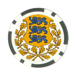 Coat of Arms of Estonia Poker Chip Card Guard by abbeyz71