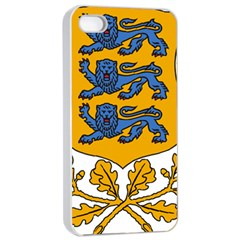 Coat Of Arms Of Estonia Apple Iphone 4/4s Seamless Case (white)