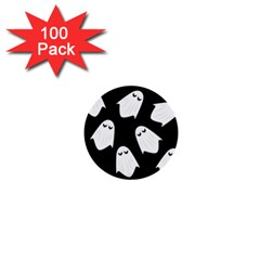 Ghost Halloween Pattern 1  Mini Buttons (100 Pack)  by Amaryn4rt