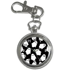 Ghost Halloween Pattern Key Chain Watches by Amaryn4rt