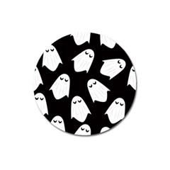 Ghost Halloween Pattern Magnet 3  (round) by Amaryn4rt